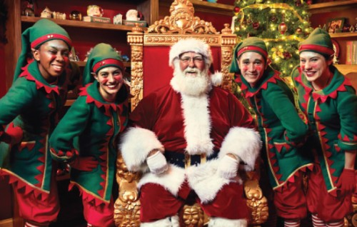 Visit with Santa at Busch Gardens Christmas Town through Dec. 31
