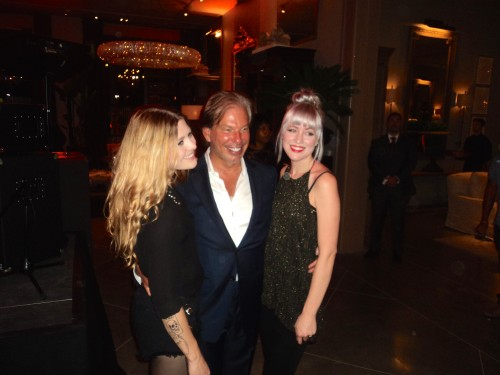 Gary Friedman, CEO of RH, welcomes rock 'n roll sisters Larkin Poe at the Grand Opening Party.