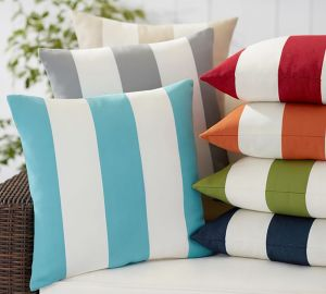 classic striped outdoor pillows