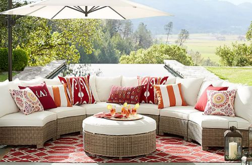classic stripe indoor outdoor pillows