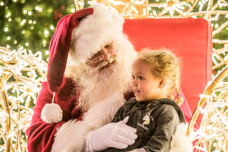 Santa's Landing with Santa Clause at Enchant Christmas