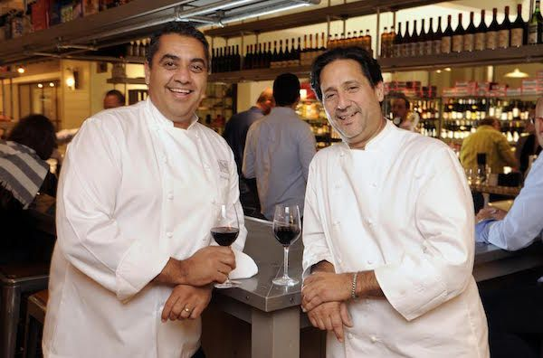 Chef Michael Mina and Chef Don Pintabona at Locale Market.