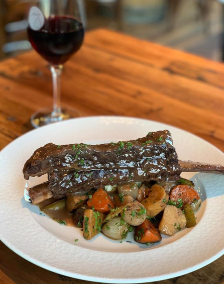 Santa Carota Short Ribs at Wine Bar George in Disney Springs